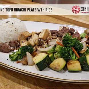 Sushi Maru Japanese Restaurant_Beef & Tofu Hibachi Plate wit