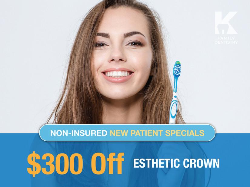 $300 Off Esthetic Crown