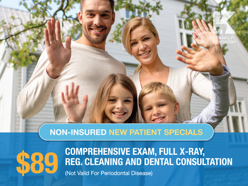 $89 Comprehensive Exam, Full X-Ray, Reg. Cleaning and Dental Consultation
