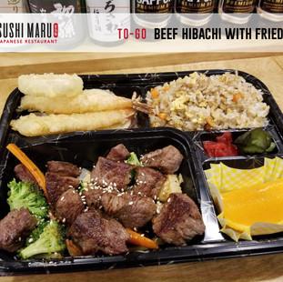 Sushi Maru Japanese Restaurant [To-Go] Beef Hibachi Bento wi