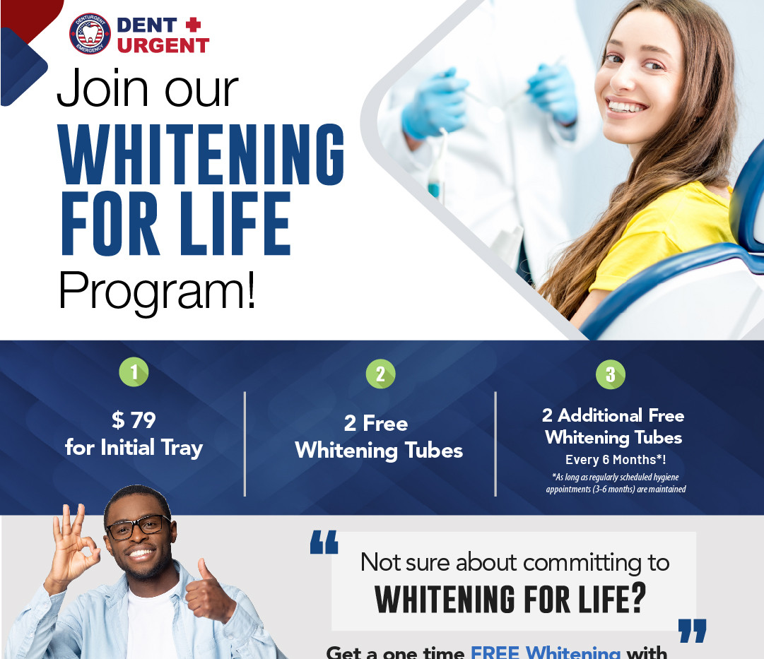 DentUrgent Whitening for life promotion