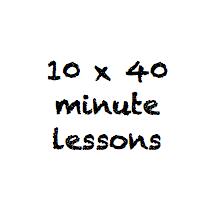 10 x 40 minute class pass