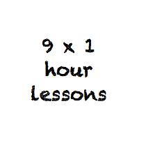 9 x 1 hour class pass