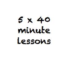 5 x 40 minute class pass