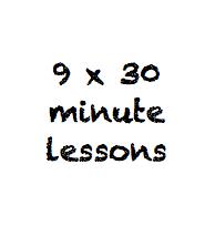 9 x 30 minute class pass