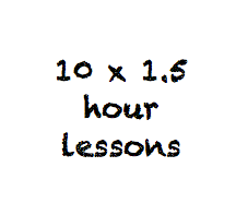 10 x 1.5 hour class passes