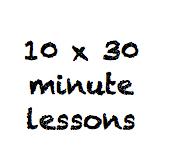 10 x 30 minute class pass