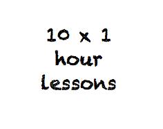 10 x 1 hour class pass