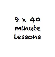 9 x 40 minute class pass
