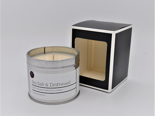 Sea Salt & Driftwood Scented Paraffin Candle