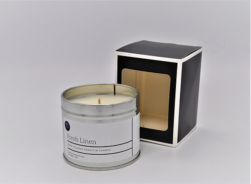 Fresh Linen Scented Paraffin Wax Candle