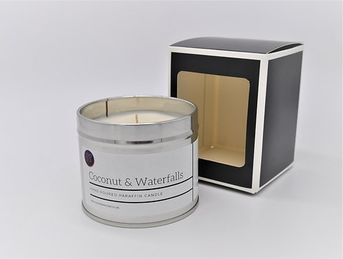 Coconut & Waterfalls Scented Paraffin Candle