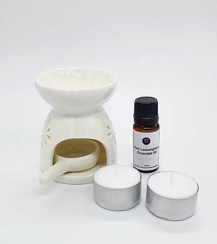 100% Pure Essential Oil Burner Aromatherapy Starter Pack Bundle.