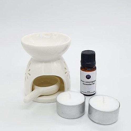 100% Pure Essential Oil Burner Aromatherapy Starter Pack Bundle.