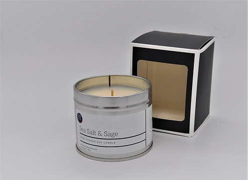 Sea Salt & Sage Scented Soy Wax Candle