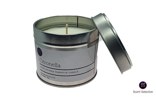 Citronella Essential Oil Scented Paraffin Wax Candle