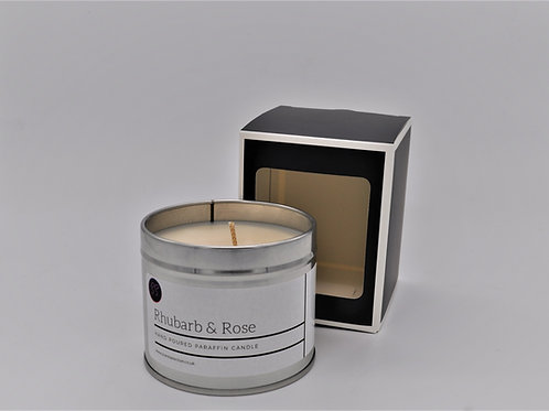 Rhubarb & Rose Scented Paraffin Candle