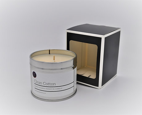 Clean Cotton  Scented Paraffin Candle