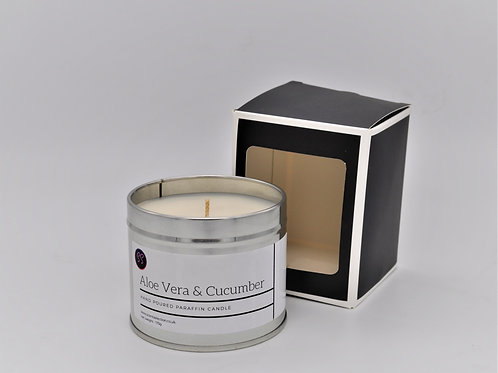 Aloe Vera & Cucumber Scented Paraffin Wax Candle