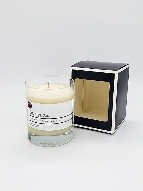 Eucalyptus Essential Oil Scented Glass Candle