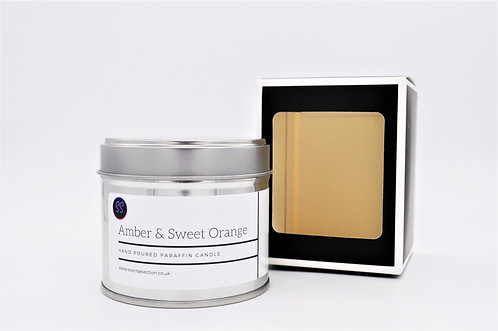 Amber & Sweet Orange Scented Candle