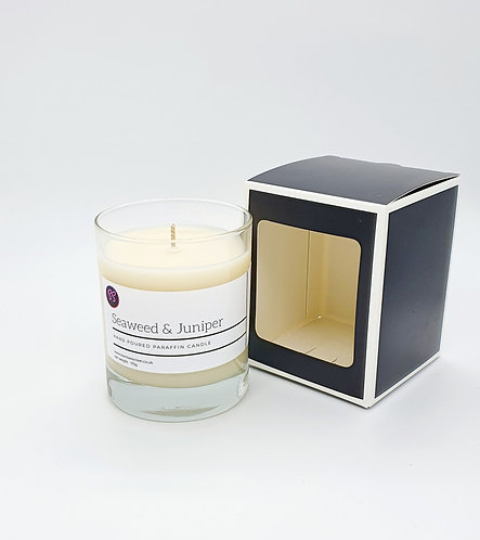 Seaweed & Juniper Essential Oil Scented Glass Candle