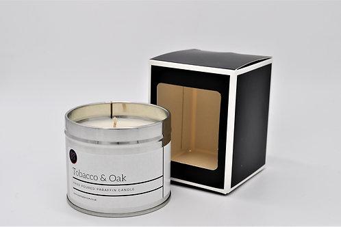 Tobacco & Oak Scented Paraffin Candle