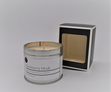 Blackberry Musk Scented Paraffin Candle