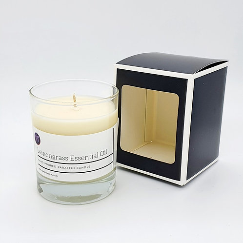 Lemongrass Essential Oil Scented Glass Candle