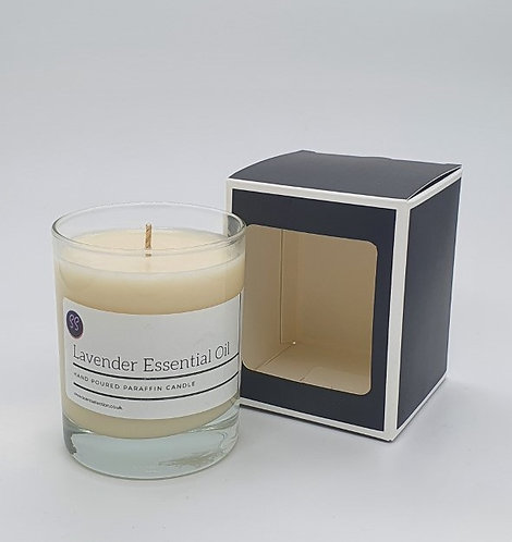 Lavender Essential Oil Scented Glass Candle