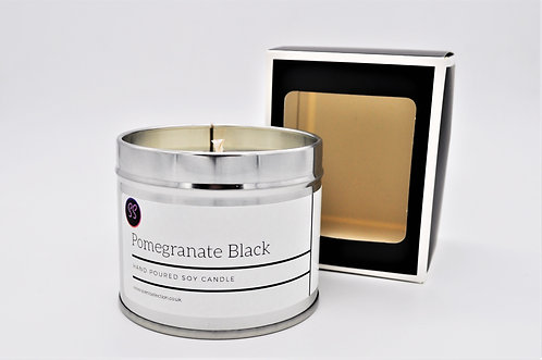 Pomegranate Black Inspired Scented Soy Wax Candle