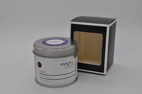 Love - Wild Red Rose. MNDA Charity Candle
