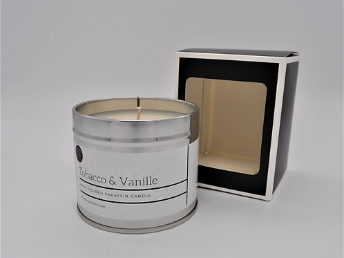 Tobacco & Vanille Scented Paraffin Candle