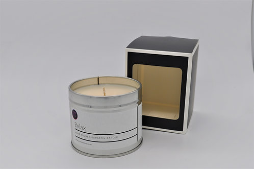 Relax Herbal Infusion  Scented Paraffin Candle