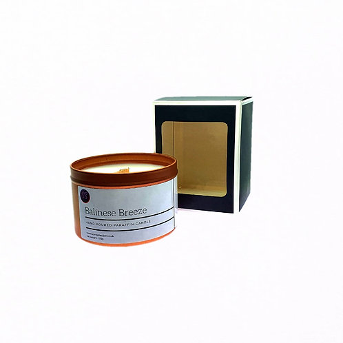 Balinese Breeze Scented Woodwick Candle. Rose Gold