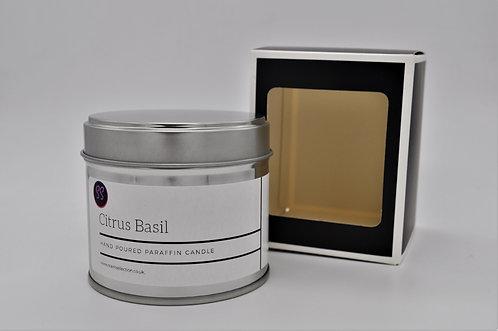 Citrus Basil Scented Paraffin Candle