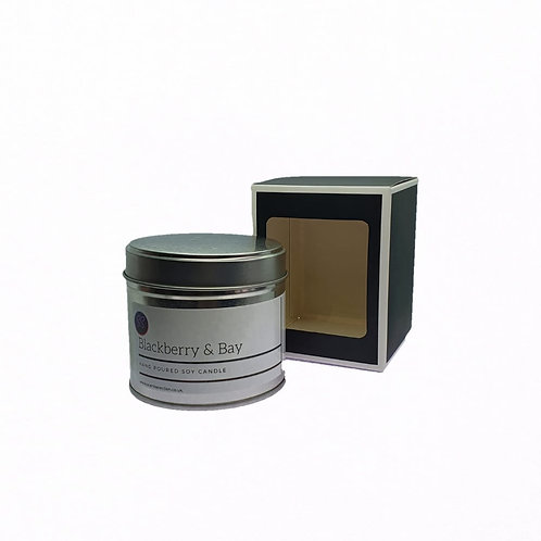 Blackberry & Bay Scented Soy Wax Candle