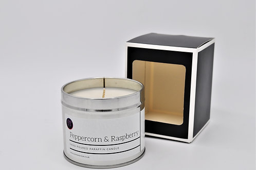 Peppercorn & Raspberry Scented Paraffin Candle