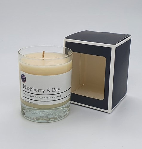 Blackberry & Bay Scented Paraffin Glass Candle