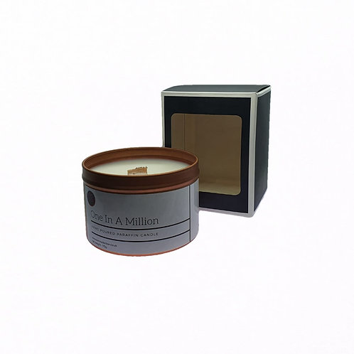 One In A Million Scented Woodwick Candle. Rose Gold