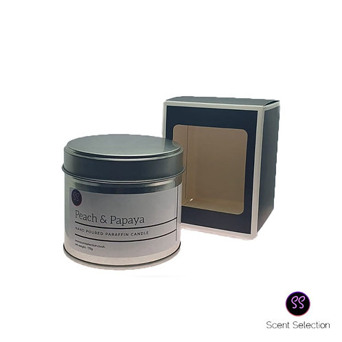 Peach & Papaya Scented Paraffin Candle