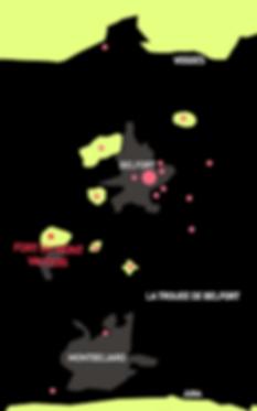Carte des forts - Mont Vaudois - Héricourt