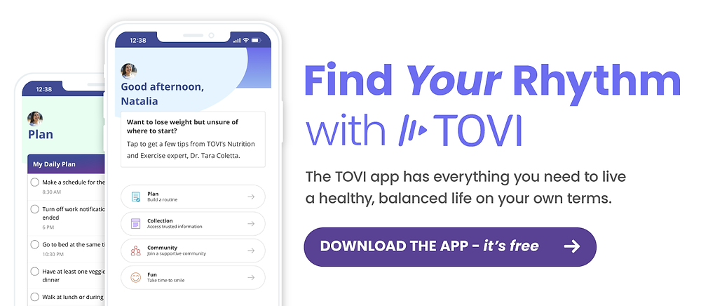 Find your rhythm with the TOVI app