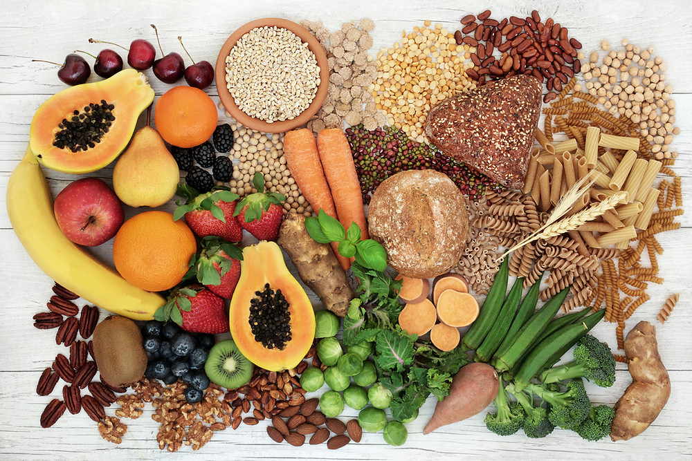 Healthy fruits and vegetables to help with sustainable weight loss.