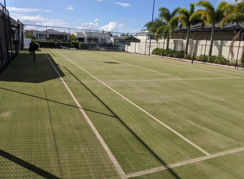 here are the results from our tennis court clean. this court requires ongoing tennis court maintenance
