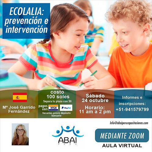 Ecolalia: Prevención e intervención