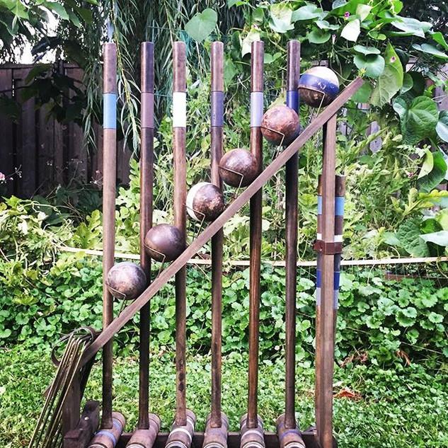#croquet #queenregentbb #backyard #garde