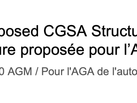 Modifications proposées aux statuts de l'AÉDC / Proposed changes to the CGSA by-laws