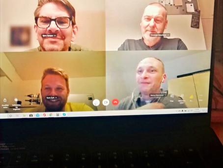 Virtuelle Treffen während Corona