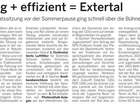 Einig + effizient = Extertal